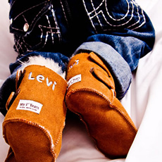 Personalised Suede Sheepskin Boots - Chestnut