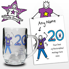 Personalised Purple Ronnie Young Male Tankard