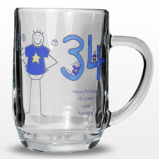 Personalised Purple Ronnie Middle Male Tankard