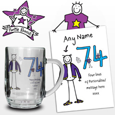 Personalised Purple Ronnie Elder Male Tankard