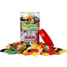 Personalised Sweetie Jar - Jelly Babies