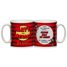 Personalised Beano Mug - There'll Be Trouble