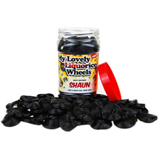Personalised Sweetie Jar - Liquorice Wheels
