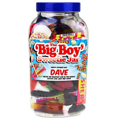 Personalised 'Big Boy' Retro Sweet Jar