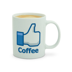 Social Network Like Mug - Coffee