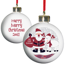 Personalised Christmas Bauble - Santa