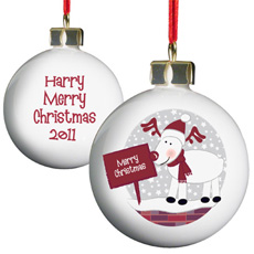 Personalised Christmas Bauble - Rudolph
