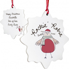 Personalised Christmas Decoration - Robin