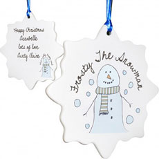 Personalised Christmas Decoration - Snowman