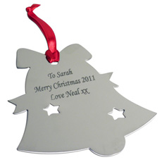 Personalised Christmas Decoration - Bell