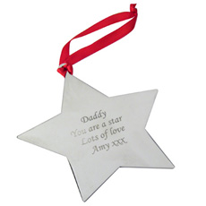 Personalised Christmas Decoration - Star