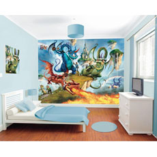 Walltastic Land of Knights and Dragons Mural Wall Stickers