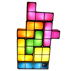 Rearrange these seven tetrominoes any way you like to create your very own unique Tetris Light!