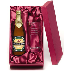 Personalised Birthday Cider and Glass Gift Set