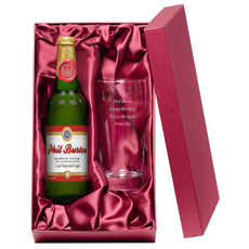 Personalised Birthday Lager and Glass Gift Set