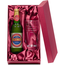 Personalised Lager and Glass Gift Set