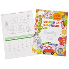 Personalised Colour In Calendar - A3