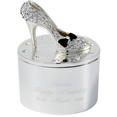 Personalised Shoe Trinket Box