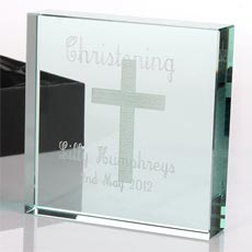 Personalised Square Glass Keepsake - Christening