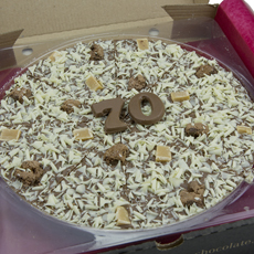 70th Birthday Chocolate Pizza - 10'