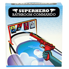 Making bath time fun with the Superhero Bathroom Commando!
