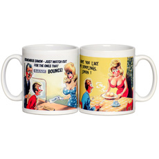 Personalised Saucy Postcard Mugs - For Him