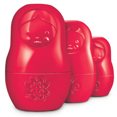 Russian Doll Measuring Cups - Red