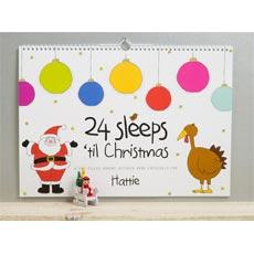 Personalised 24 Sleeps 'til Christmas Activity Book