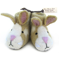 Sew Heart Felt Baby Slippers - Ruby Rabbit
