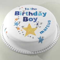 Personalised Letterbox Birthday Cake - For Him