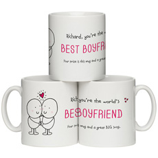 Personalised Chilli & Bubble's Mug - Best Boyfriend