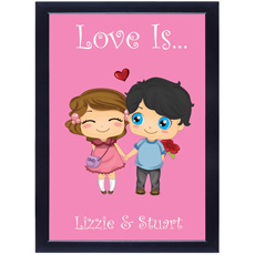 Personalised Love Is Framed Poster