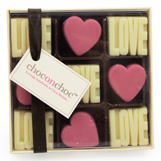 Chocolate Love and Hearts