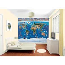Walltastic World Map Mural