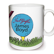 Personalised Golfer Mug