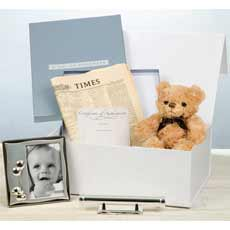 Personalised New Baby Boy Gift Box