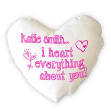 Personalised I Heart Everything Cushion
