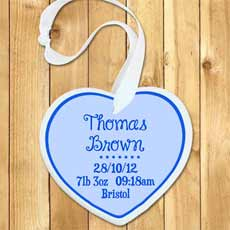 Personalised Baby Boy Birth Date Keepsake