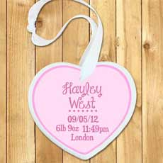 Personalised Baby Girl Birth Date Keepsake