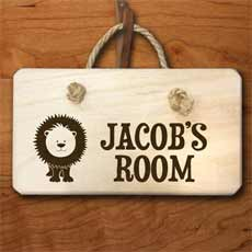 Personalised Lion Door Sign