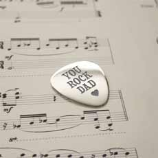 'You Rock Dad' Sterling Silver Plectrum