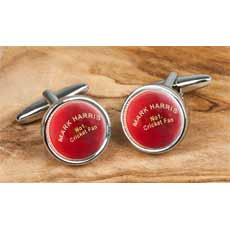Personalised Cufflinks - Cricket Balls