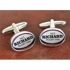 Personalised Cufflinks - Rugby