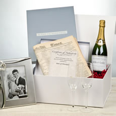 Personalised Wedding Gift Set with Champagne