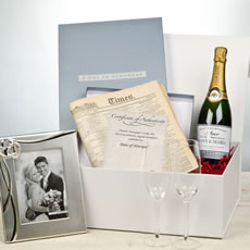 Personalised Silver Wedding Anniversary Gift Pack