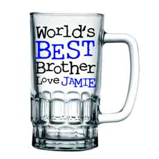 Personalised 'World's Best' Pint Glass