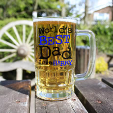 Personalised 'World's Best Dad' Pint Glass