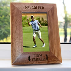 Personalised No1 Golfer Photo Frame