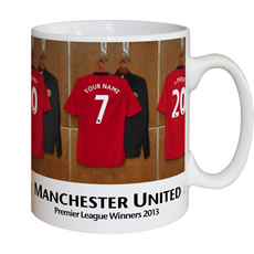 Personalised Dressing Room Mug - Man Utd
