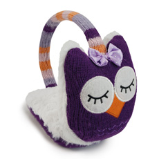Keep your ears toasty warm with these really cute Owl Ear Muffs with warming gel pad inserts!